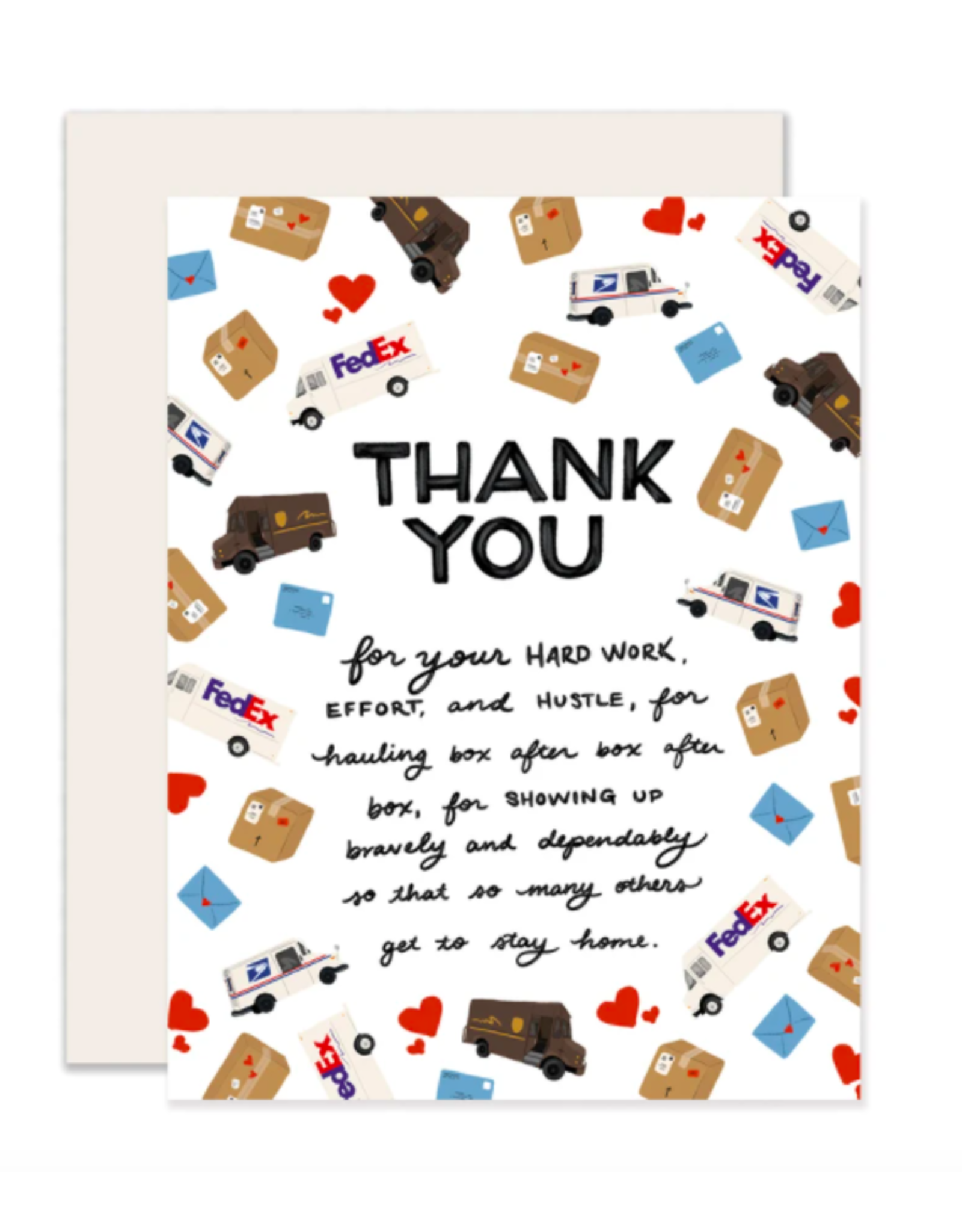 Slightly Stationery Mail & Delivery Thank You