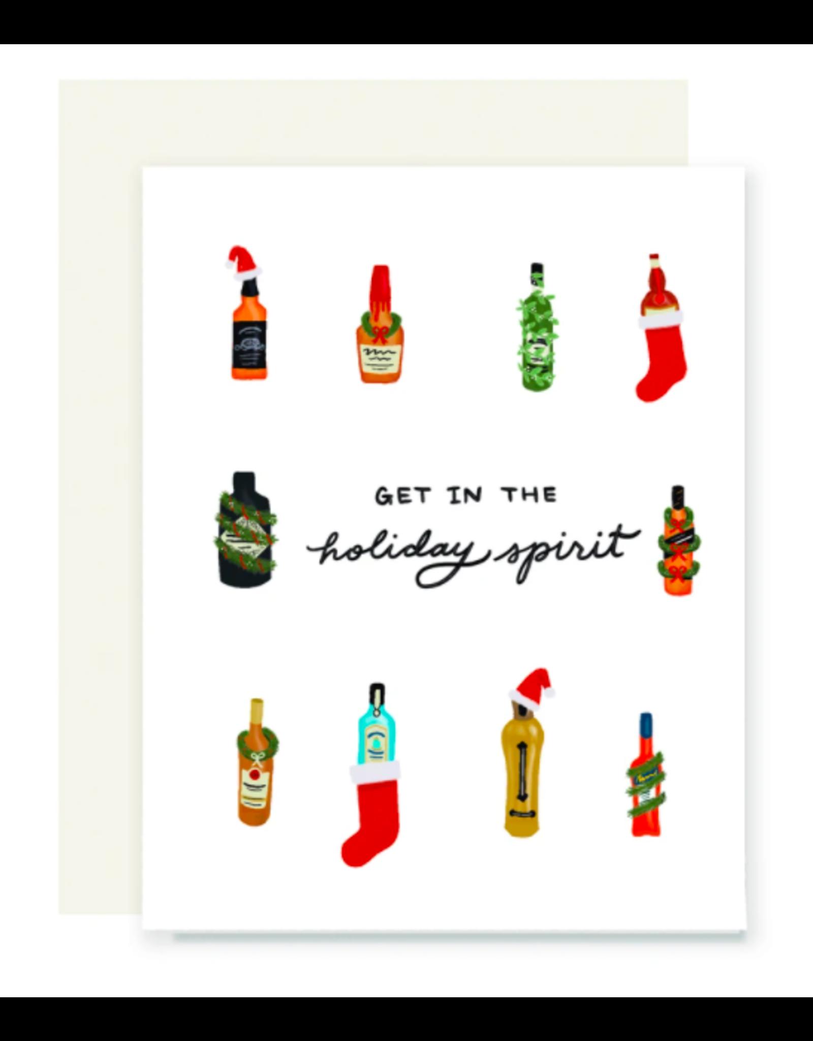 Slightly Stationery Holiday Spirits Card
