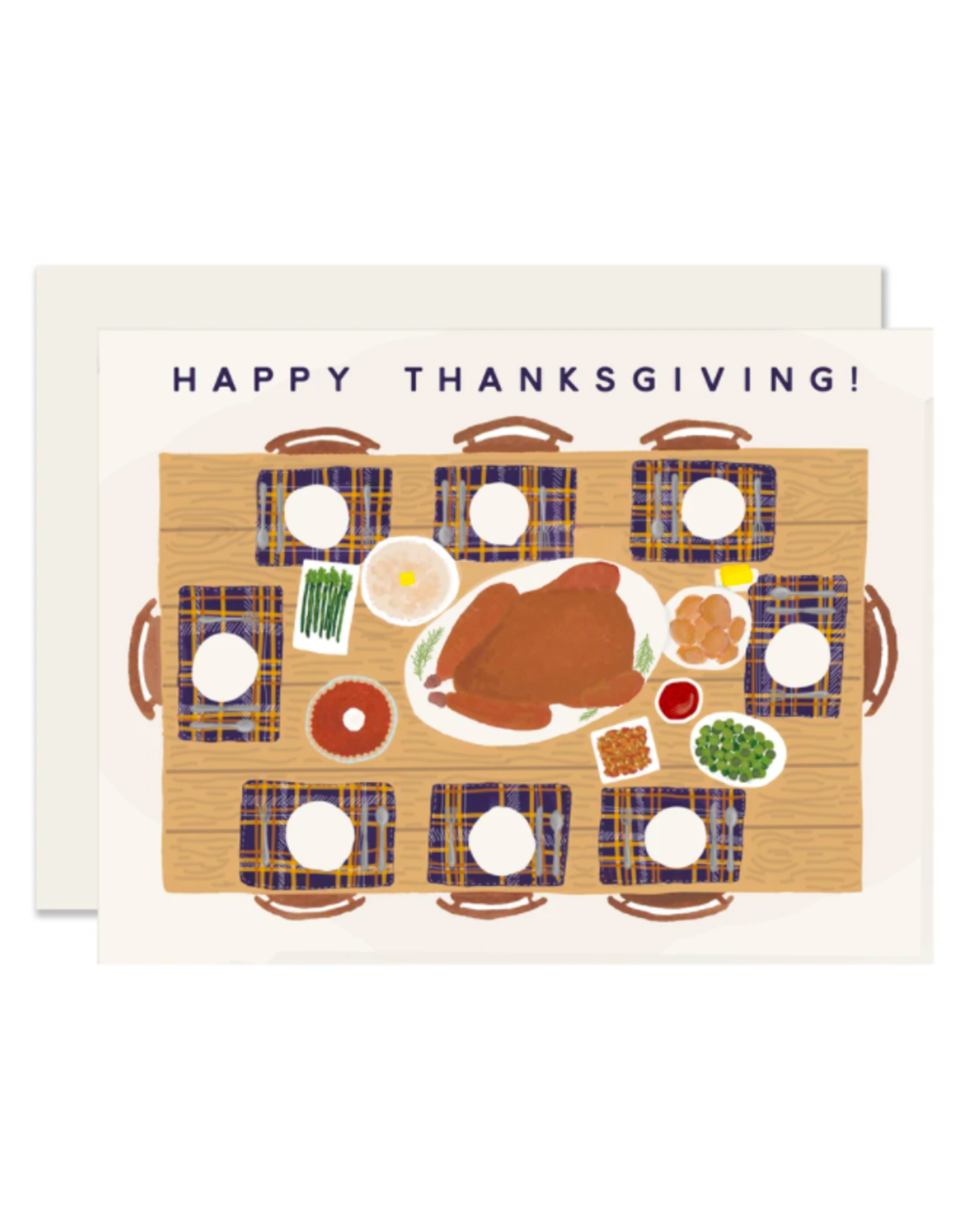 Slightly Stationery Thanksgiving Table Card