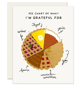 Slightly Stationery Pie Chart Card