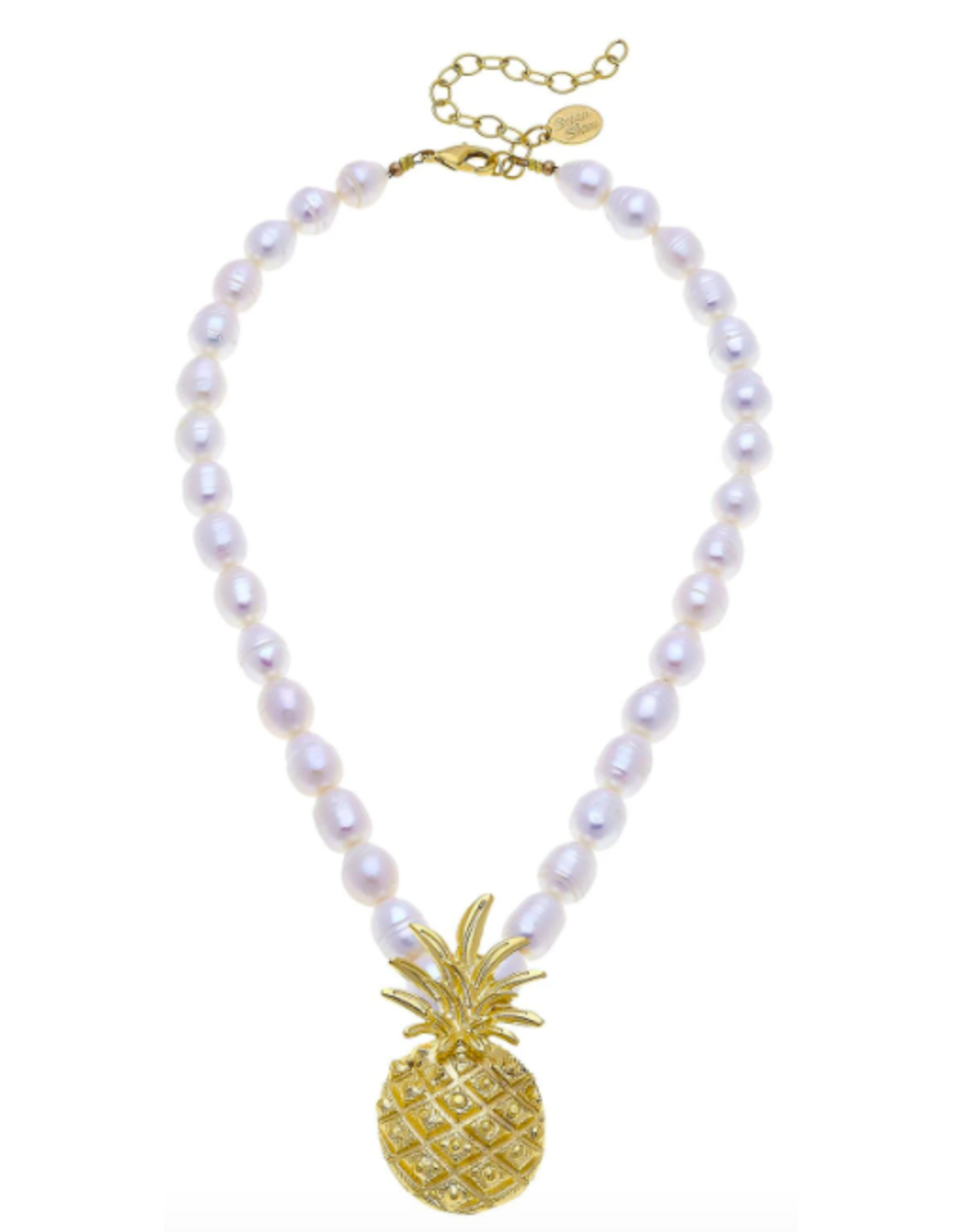 Susan Shaw Pearl & Pineapple Necklace by Susan Shaw