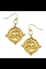 Susan Shaw Elephant Drop Earrings by Susan Shaw