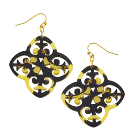 Susan Shaw Tortoise Filigree Earrings by Susan Shaw
