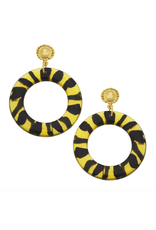 Susan Shaw Gold and Tortoise Drop Earrings by Susan Shaw