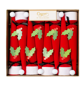Caspari Santa Hat Christmas Crackers