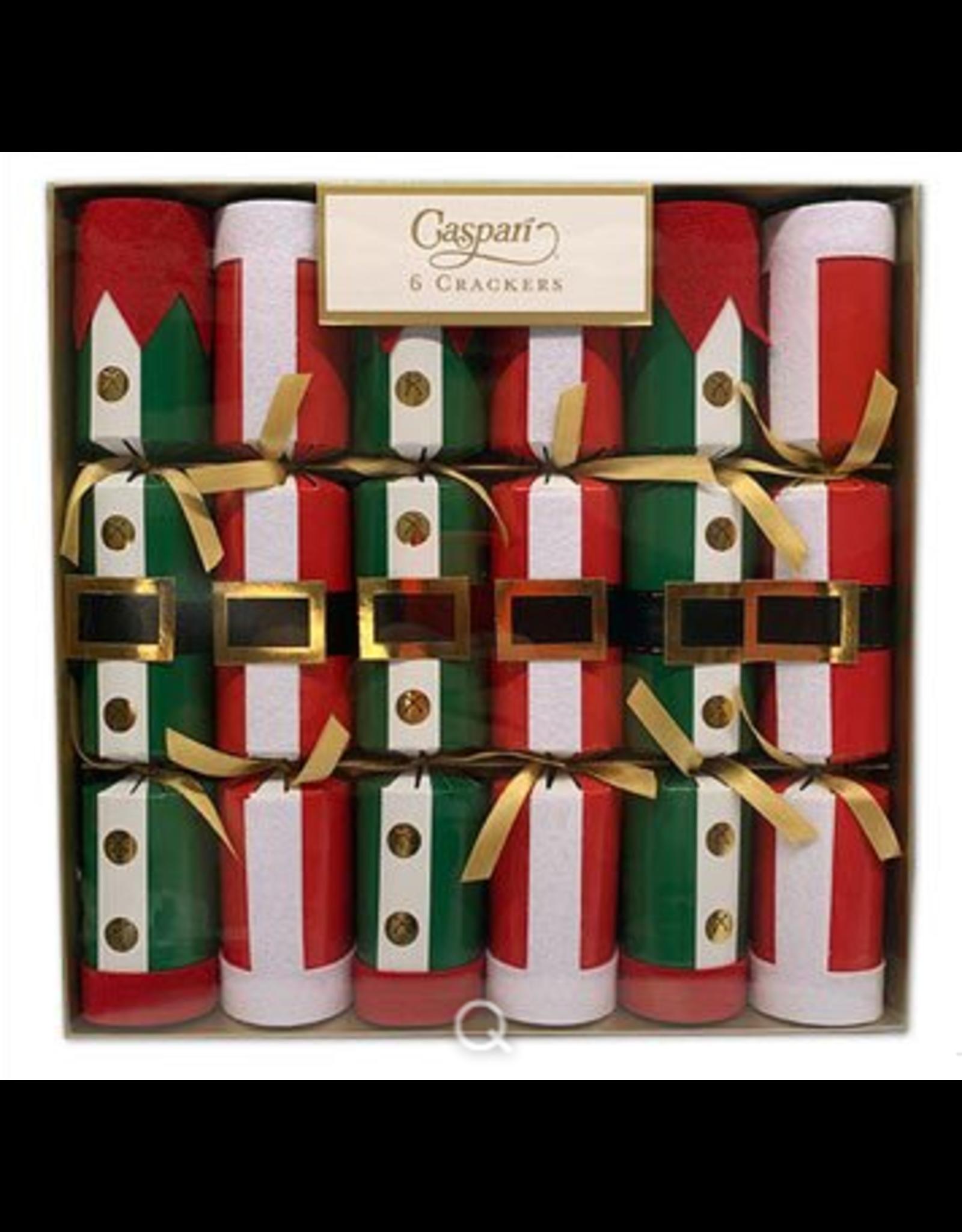Caspari Santa and Elf Christmas Crackers