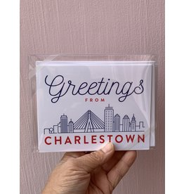 RoseanneBECK Collection Greetings From Charlestown Notecard Set