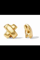 Julie Vos Catalina X Clip-On in Gold by Julie Vos