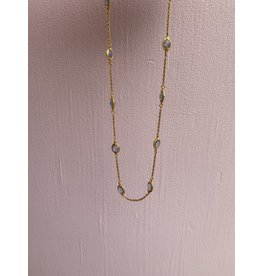 Julie Vos Calypso Demi Station Necklace in Chalcedony Blue byJulie Vos