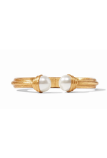 Julie Vos Barcelona Hinge Cuff Gold Pearl by Julie Vos