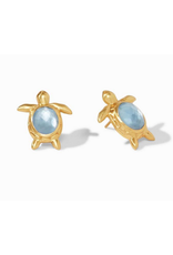 Julie Vos Turtle Stud in Chalcedony Blue by Julie Vos