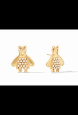 Julie Vos Bee Luxe Earring in Pearl by Julie Vos