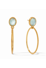 Julie Vos Verona Statement Earring in Seaglass Green by Julie Vos