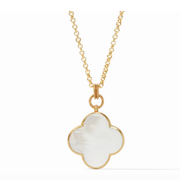 Julie Vos Chloe Statement Pendant in Mother of Pearl by Julie Vos