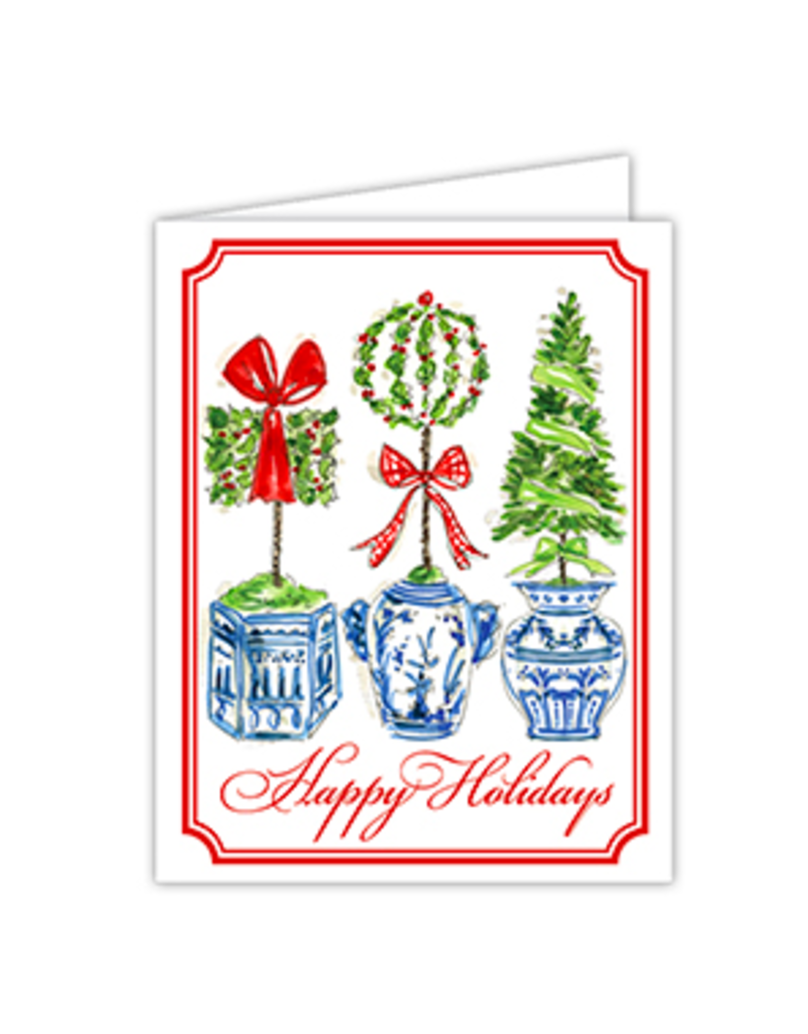 Happy Holidays Topiary Trio Boxed Set