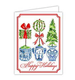 Happy Holidays Topiary Trio Boxed Set