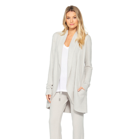 Barefoot Dreams CozyChic Lite Circle Cardi in Silver