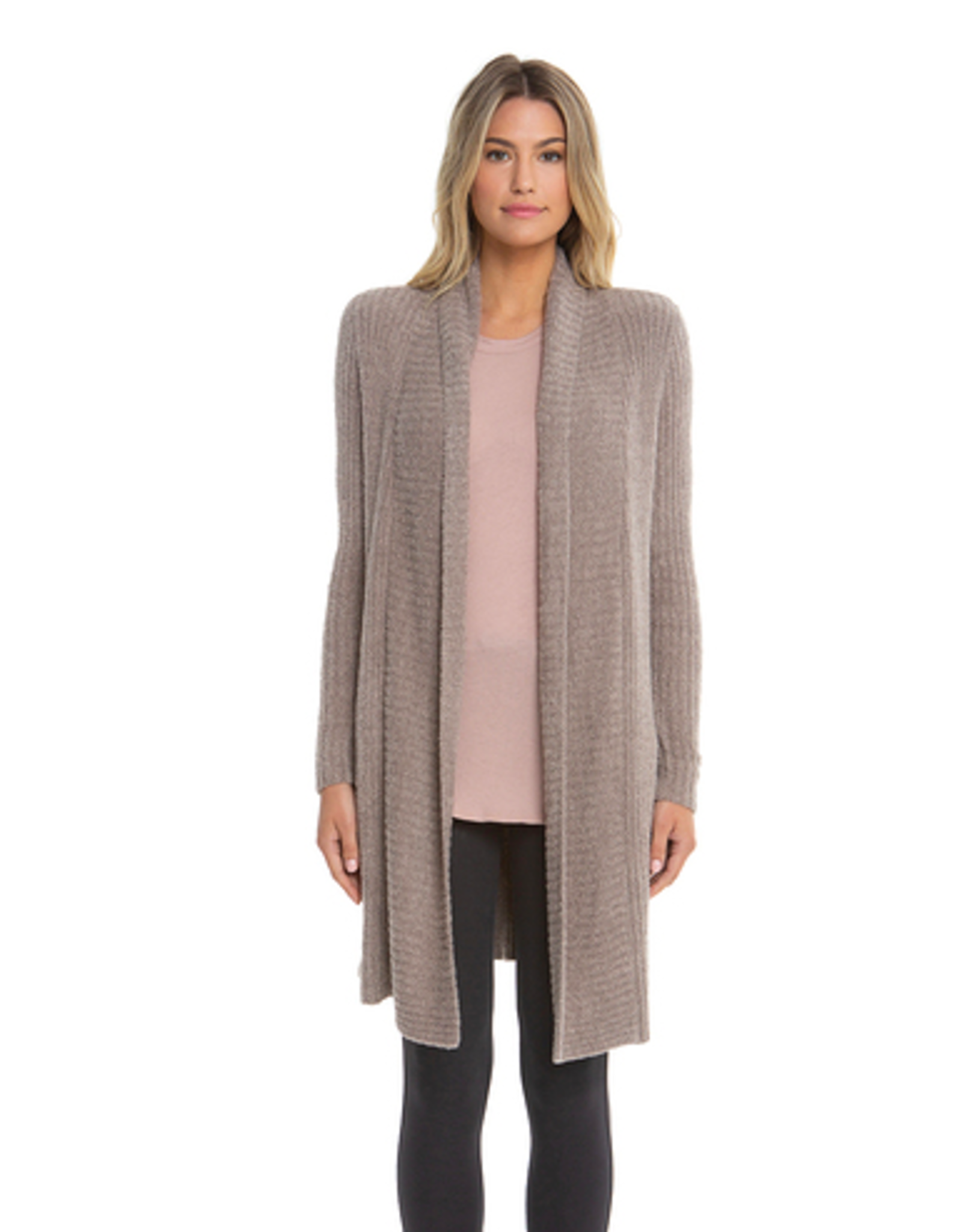 Barefoot Dreams CozyChic Lite Montecito Cardi in Driftwood