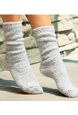 Barefoot Dreams CozyChic Heathered Socks in Blue Water