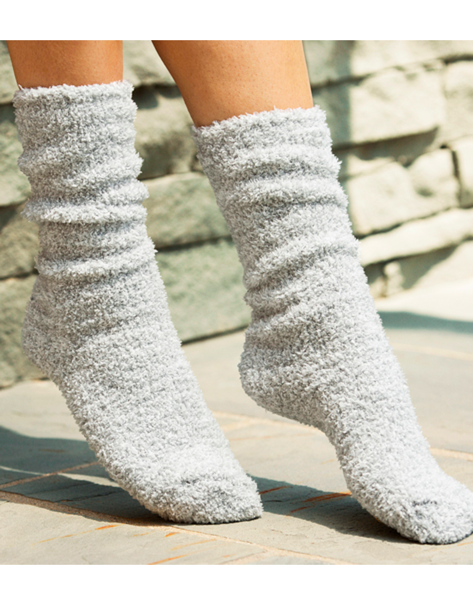Barefoot Dreams CozyChic Heathered Socks in Blue Water