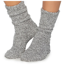 Barefoot Dreams CozyChic Heathered Socks in Graphite