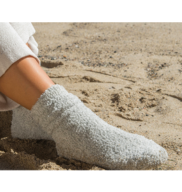 Barefoot Dreams CozyChic Heathered Socks in Oyster
