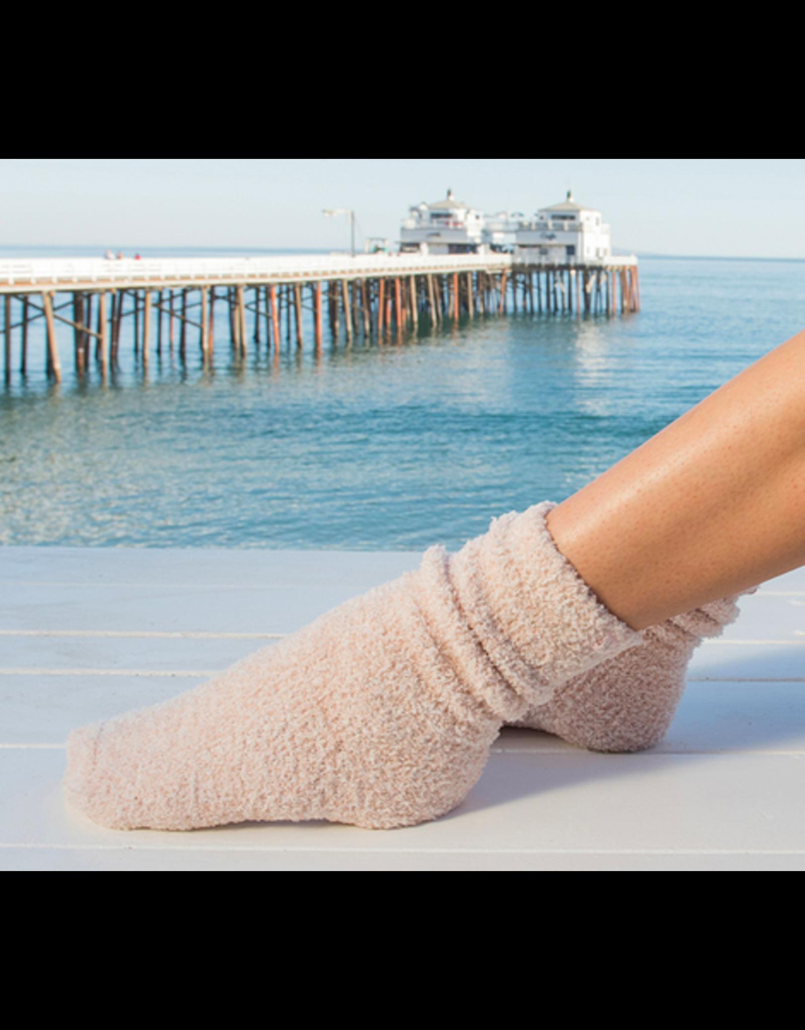 Barefoot Dreams CozyChic Heathered Socks in Dusty Rose
