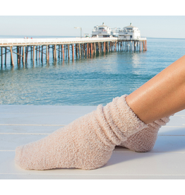 Barefoot Dreams CozyChic Heathered Socks in Dusty Rose