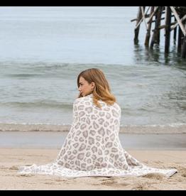 Barefoot Dreams CozyChic Safari Blanket in Cream Multi