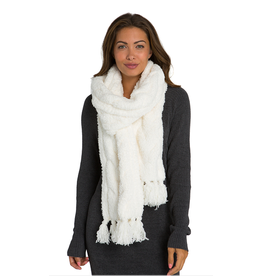 Barefoot Dreams CozyChic Cable Scarf in Pearl
