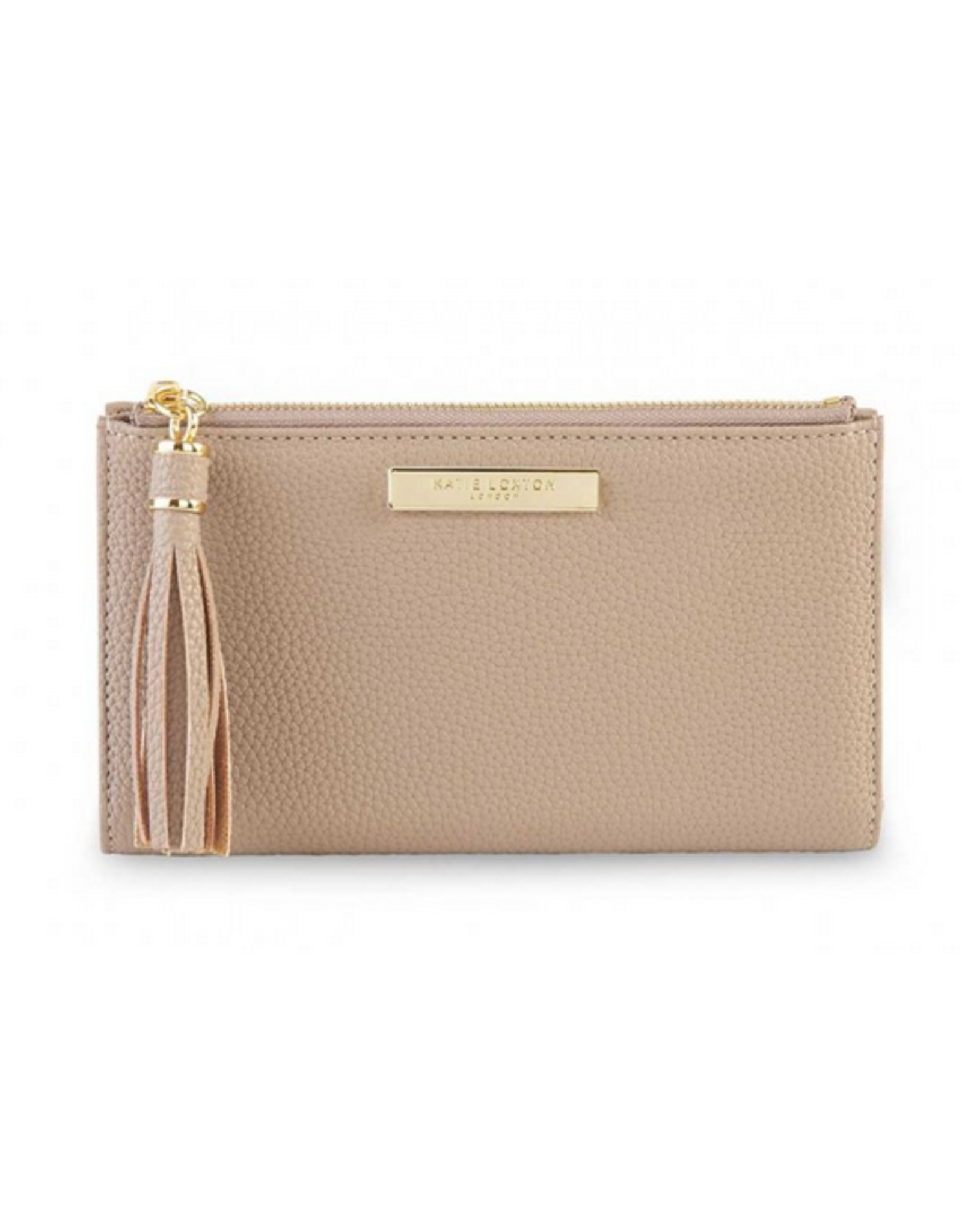 Katie Loxton Tassel Fold Out Wallet in Taupe