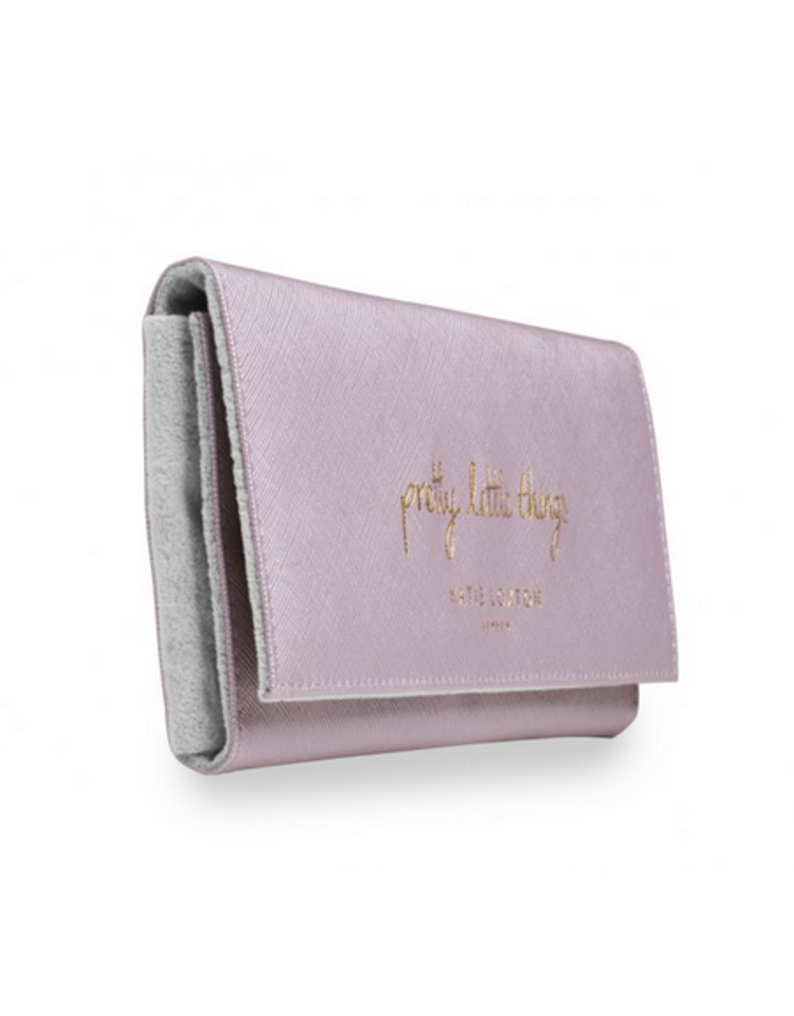 Katie Loxton Pretty Little Things Jewelry Roll in Metallic Pink