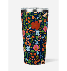 Corkcicle Tumbler 16oz Navy Wild Rose
