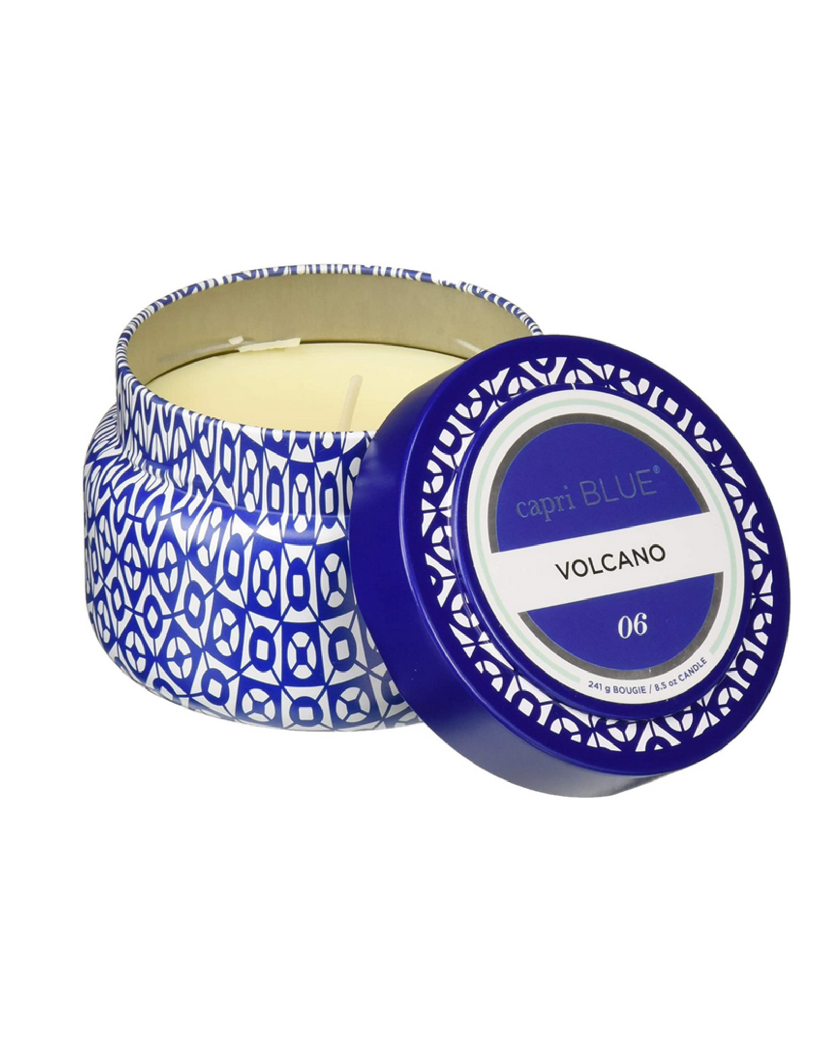 Capri Blue Volcano Blue Printed Travel Tin
