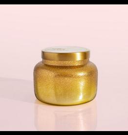 Capri Blue Volcano Gold Glittered Ombre Candle