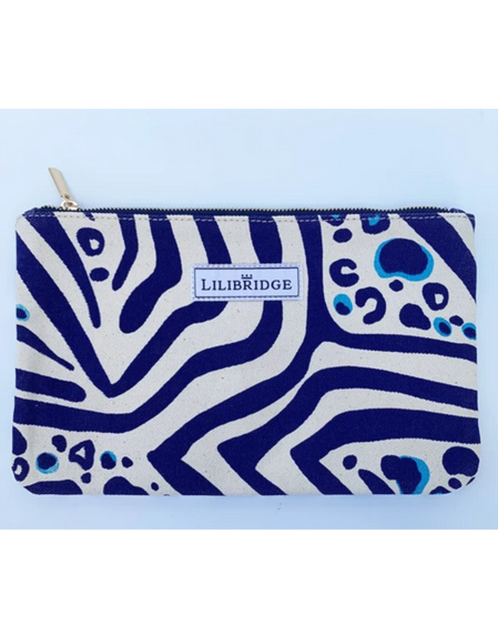 Lilibridge Zebra Cat Blue Clutch by Lilibridge