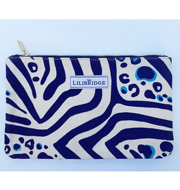 Lilibridge Zebra Cat Blue Clutch by Lilibridge