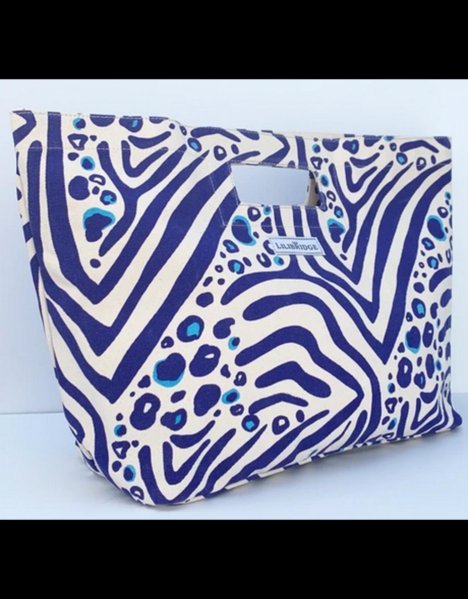 Lilibridge Zebra Cat Blue Bag by Lilibridge