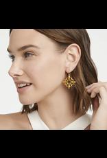 Julie Vos Fleur de Lis Lace Earring in Gold by Julie Vos