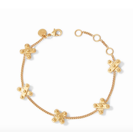 Julie Vos Soho X Delicate Bracelet in Gold by Julie Vos