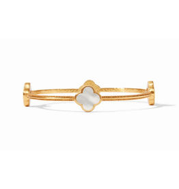 Julie Vos Chloe Bangle Mother of Pearl Medium by Julie Vos