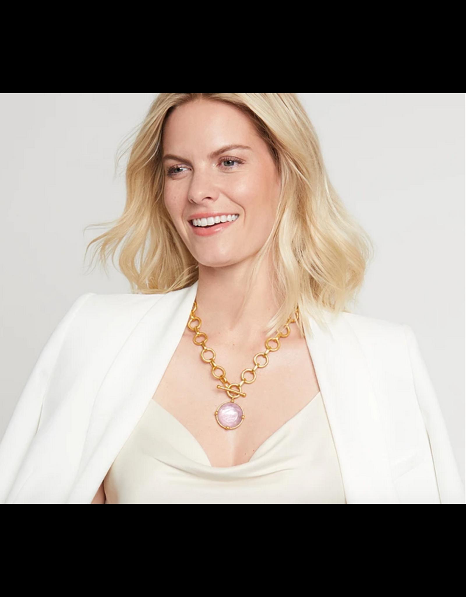 Julie Vos Honeybee Statement Necklace in Iridescent Clear Crystal by Julie Vos