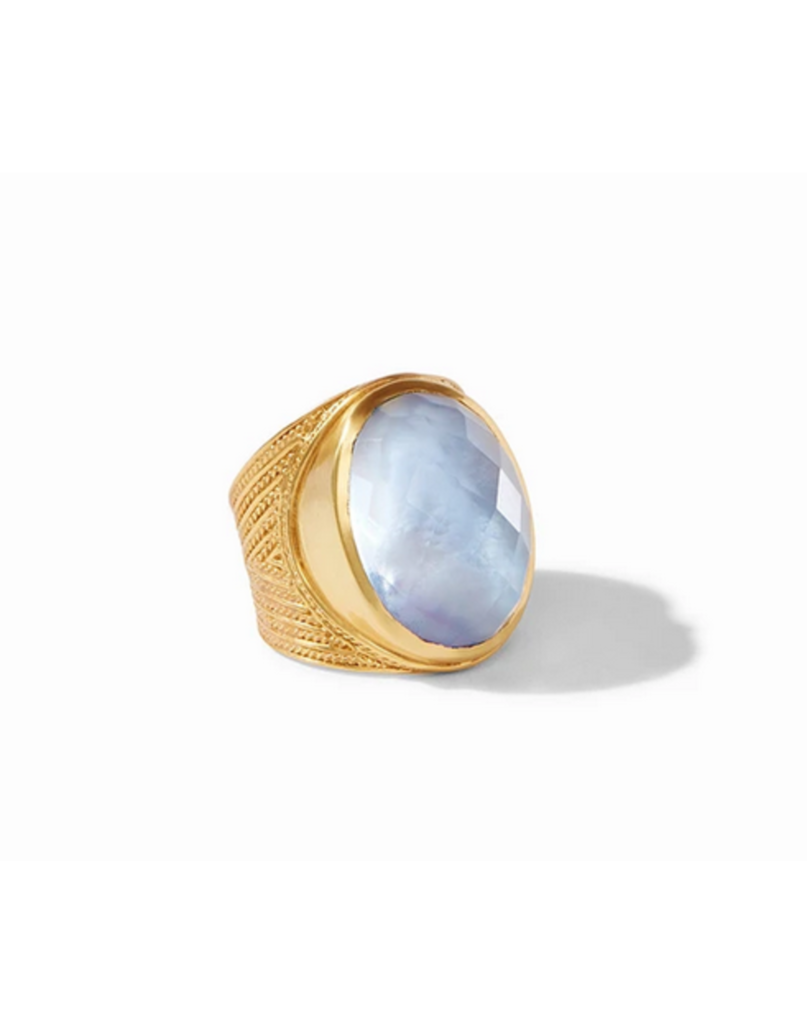 Julie Vos Verona Statement Ring in Iridescent Ice Blue by Julie Vos Size 7 Adjustable