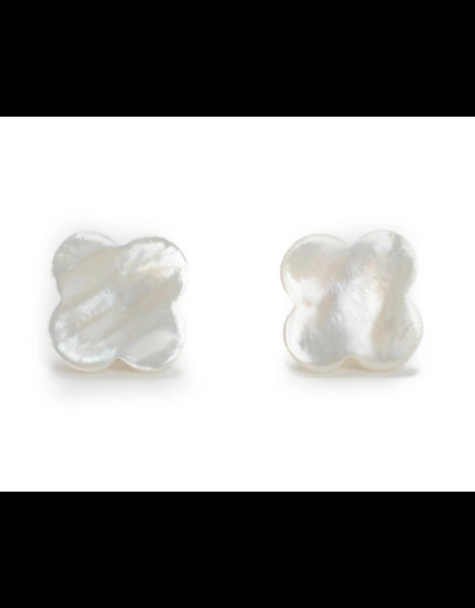 Hazen & Co Hillary Earring in White by Hazen & Co