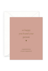 Smitten on Paper Your Person Engagement Greeting Card