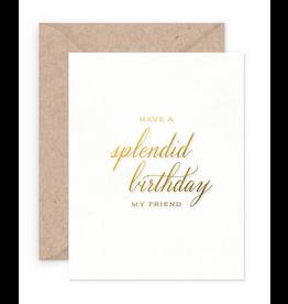 Smitten on Paper Splendid Birthday Greeting Card