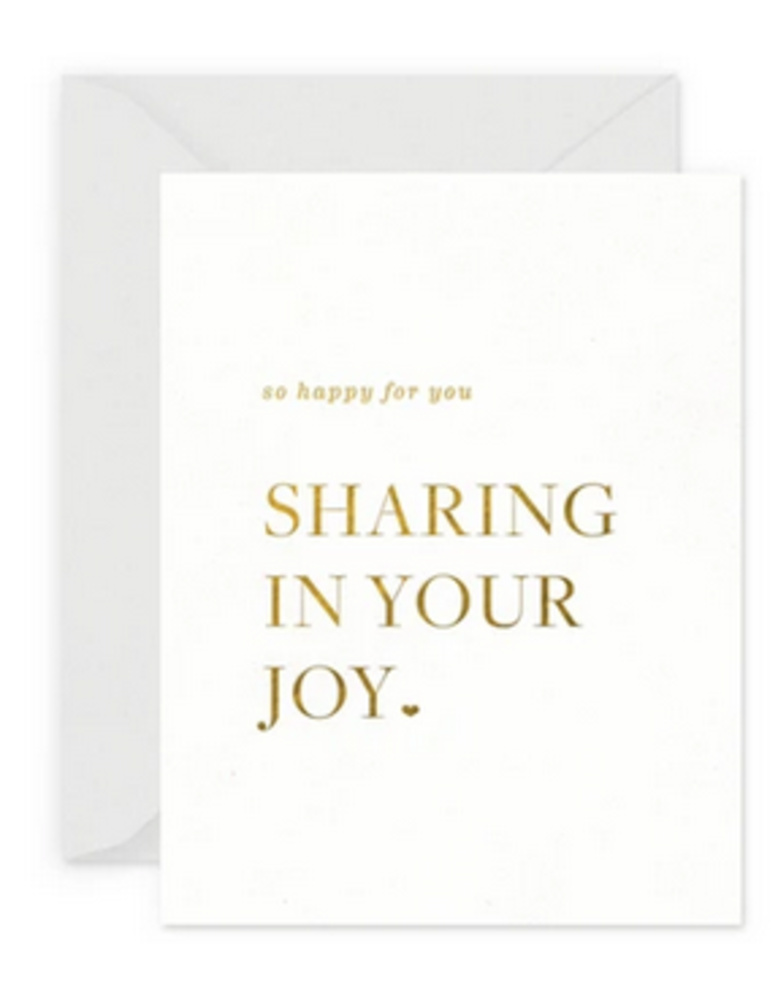 Smitten on Paper Sharing Your Joy Greeting Card