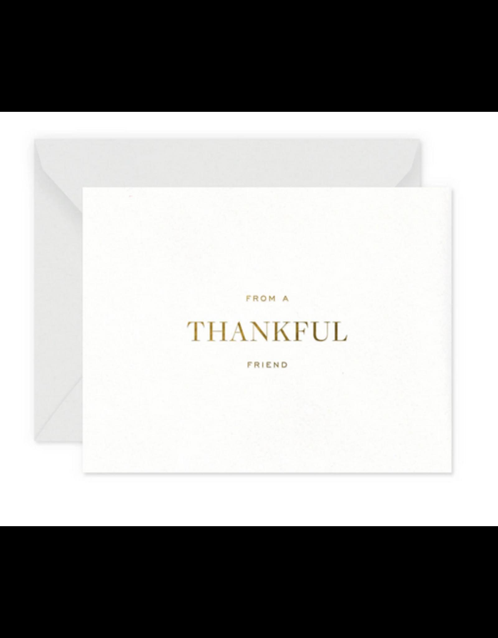 Smitten on Paper Thankful Friend Greeting Card