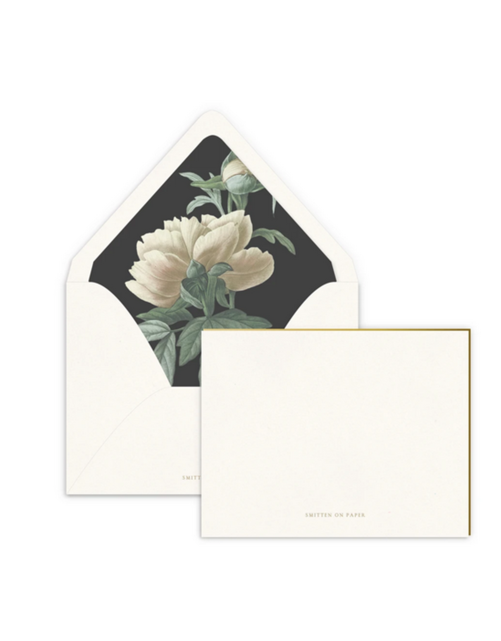 Smitten on Paper Classic Peony Luxe Lined Note Set