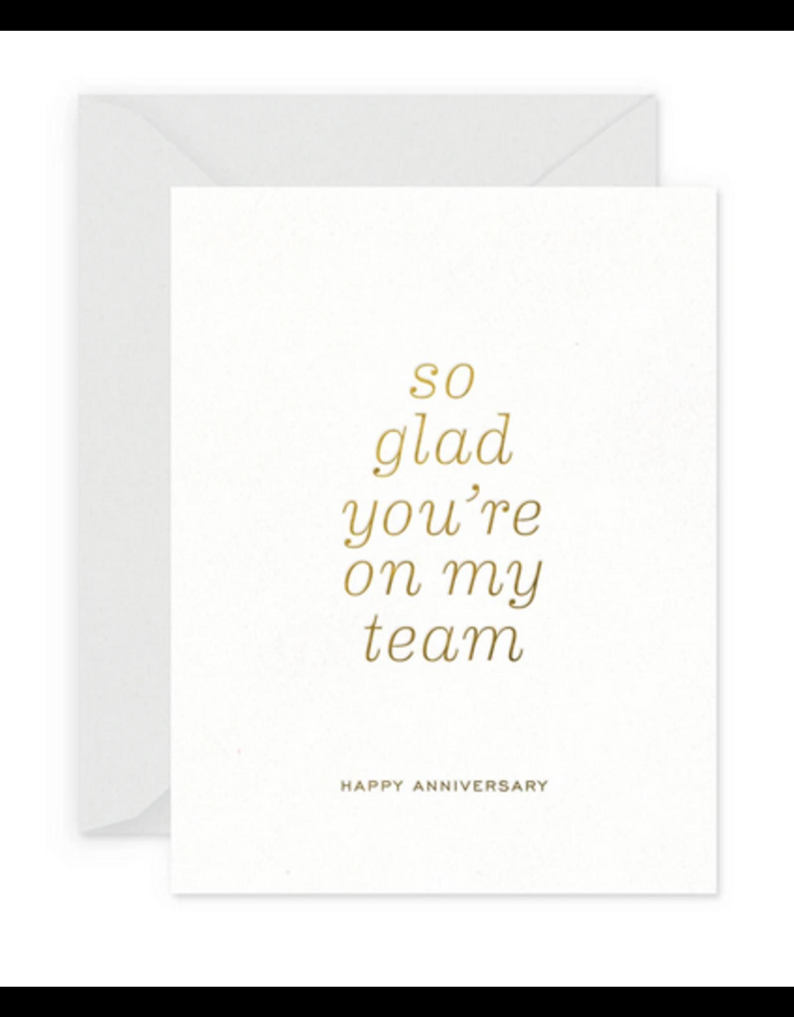 Smitten on Paper Team Anniversary Greeting Card
